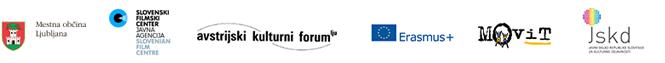 Mestna občina Ljubljana, Oddelek za kulturo; Slovenski filmski center, Javni sklad za kulturne dejavnosti; Avstrijski kulturni forum; Erasmus+, Evropska prostovoljska služba; Movit